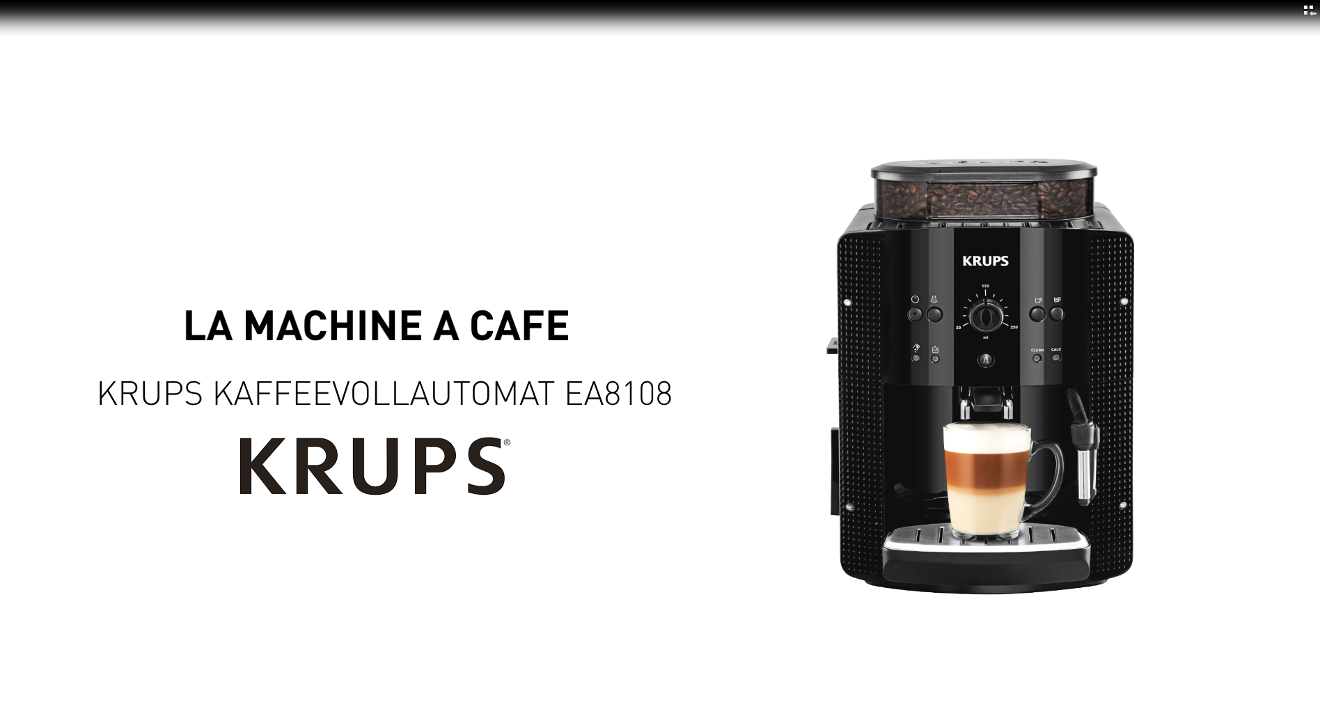 Krups Kaffeevollautomat Ea8108 Demonstration Par Nos Experts